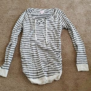 Maternity long sleeve stripe